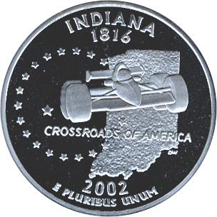State quarter silver coins brilliant uncirculated 1oz 999 silver coins click to enlarge indiana publicscrutiny Gallery